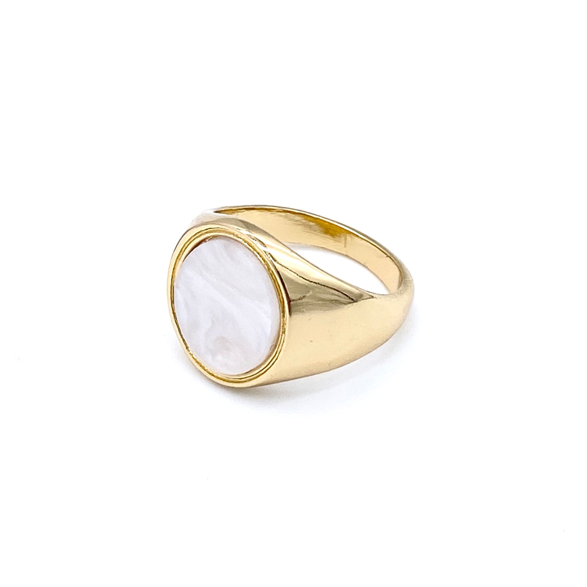 Pearl Oval Signet
