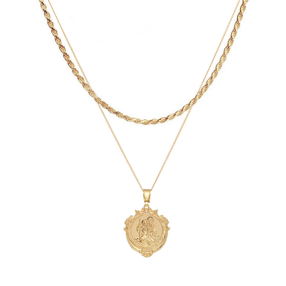St Christopher Mini Detail Medallion Rope Layer Pack