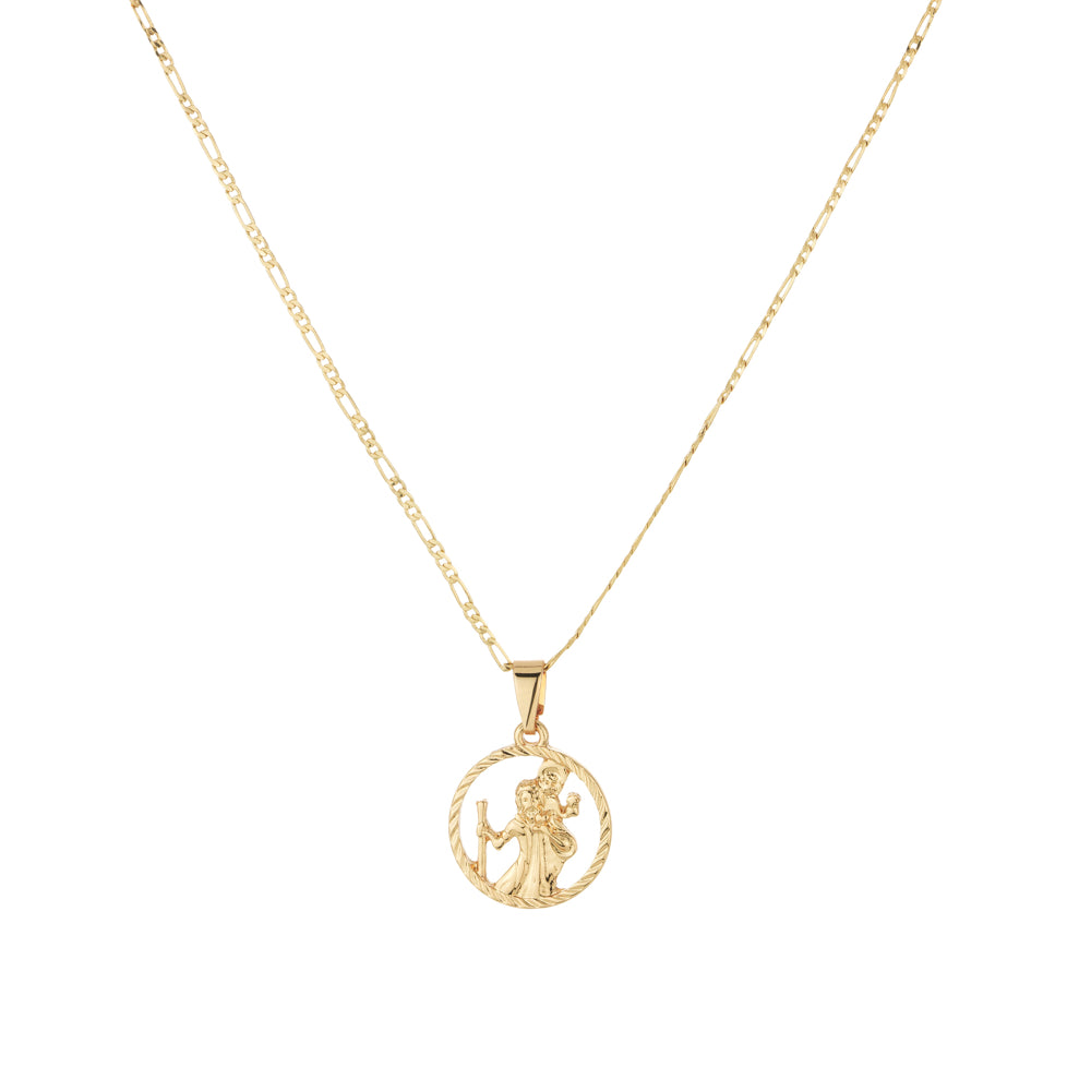 St Christopher Cut Out Medallion Figaro