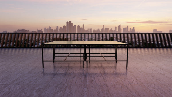 Outdoor Ping Pong Table overlooking Melbourne