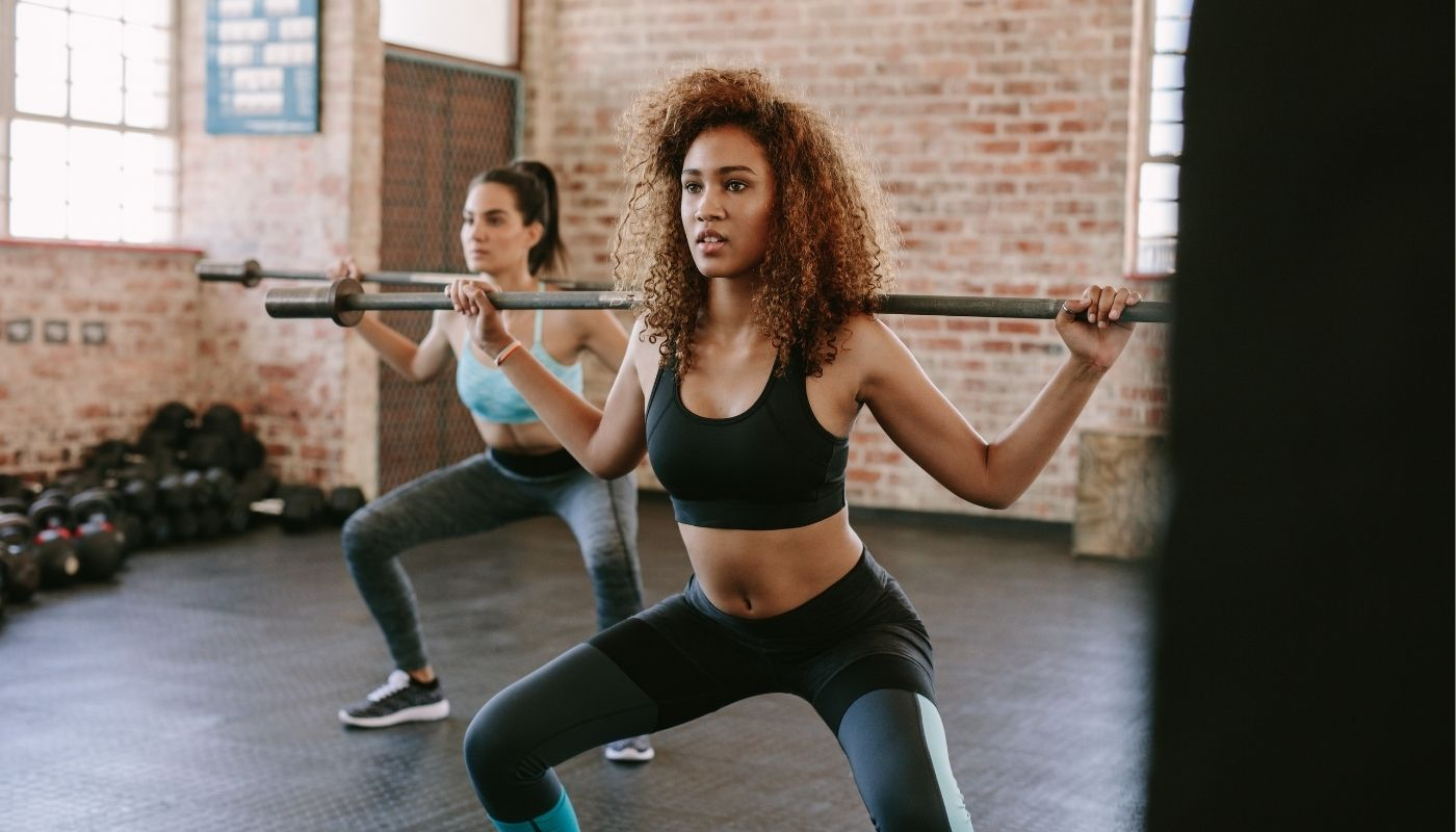 Use smart strength-training combos that work up your upper and lower body into a single move to target several muscle groups at the same time. Instead of standing while you do your overhead press, you can squat then push into an overhead press or execute a lunge with a bicep curl.