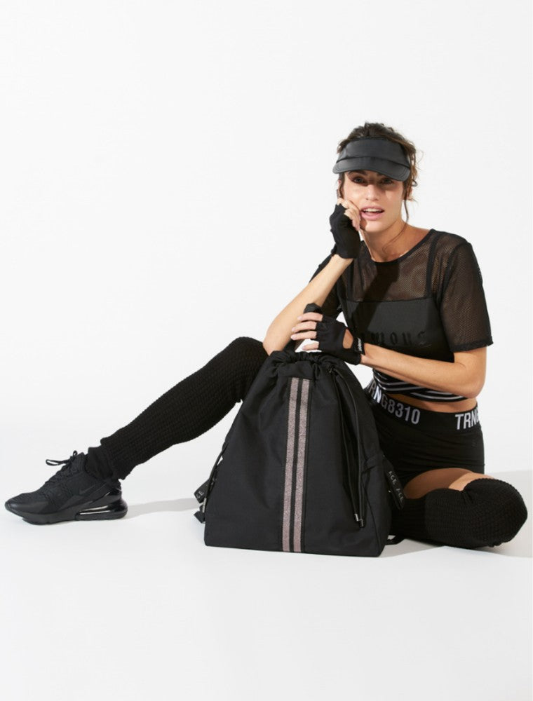 ACE Backpack color Black made with ECONYLu00ae regenerated nylon