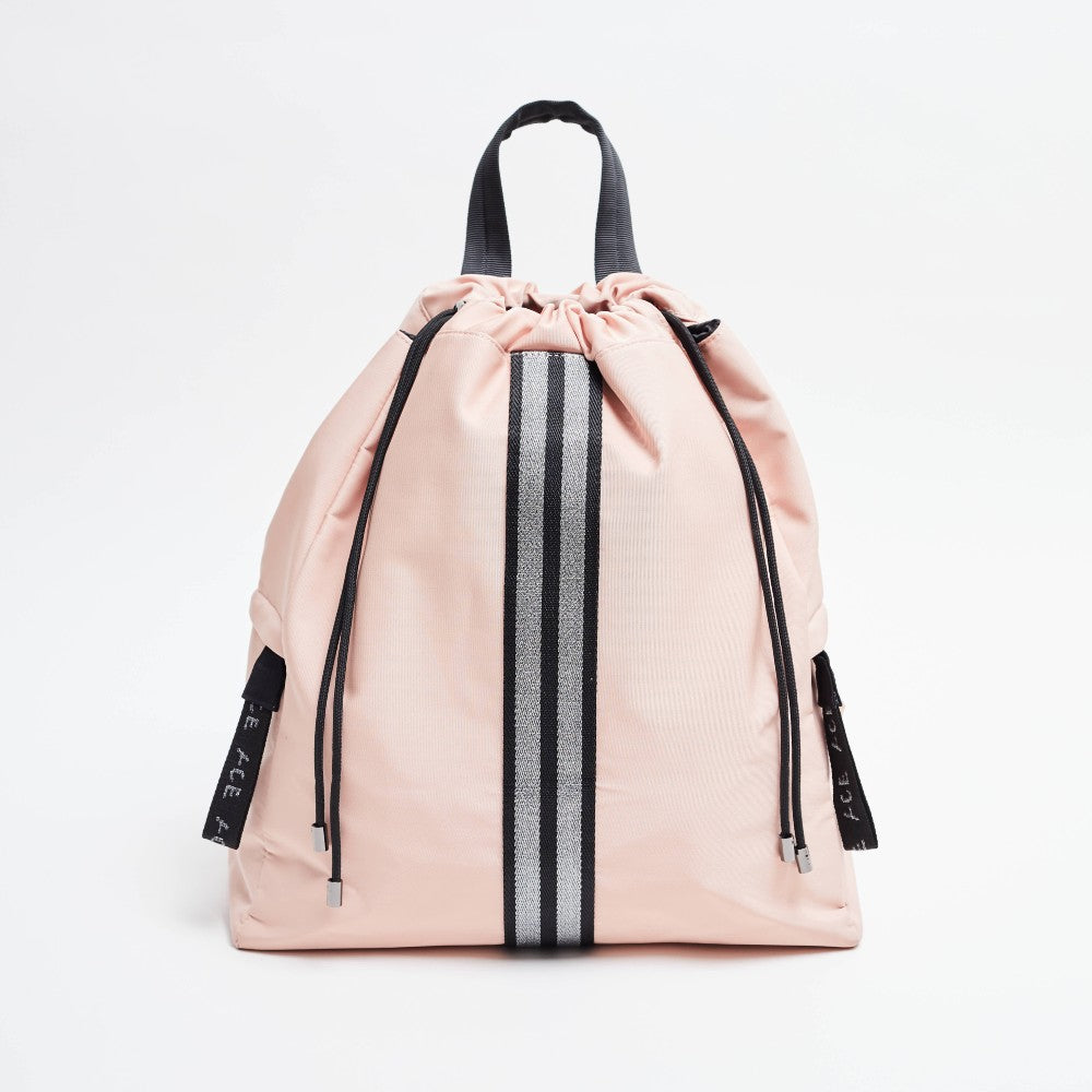 Front view of the ACE Bagpack color Pink nude made with ECONYLu00ae regenerated nylon