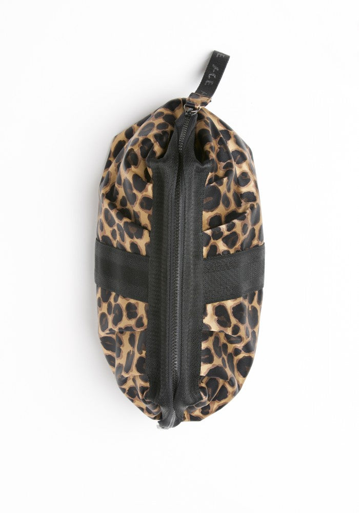View from top of the ACE Cosmetic Bag color Leopard made with ECONYLu00ae regenerated nylon