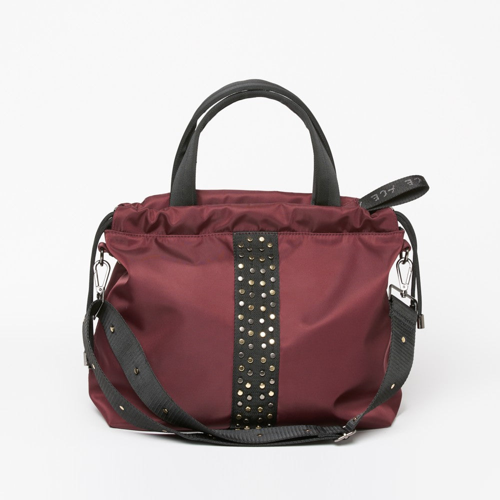 ACE Urban Tote Bag color Burgundy made with ECONYLu00ae regenerated nylon