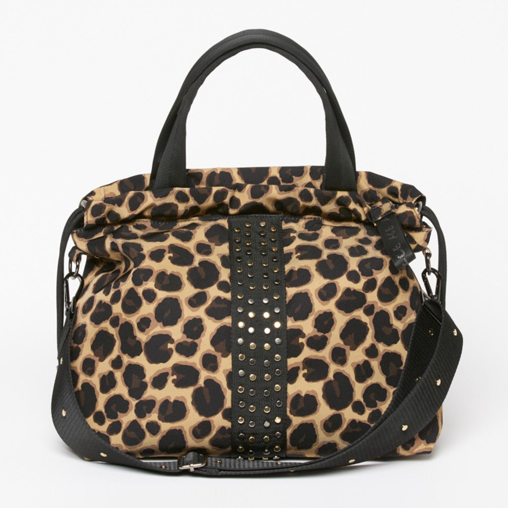 ACE Urban Tote Bag color Leopard made with ECONYLu00ae regenerated nylon