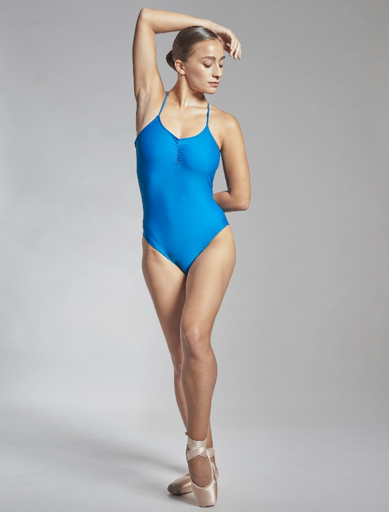 Effie leotard in blue Aisy Dance made with ECONYLu00ae regenerated nylon