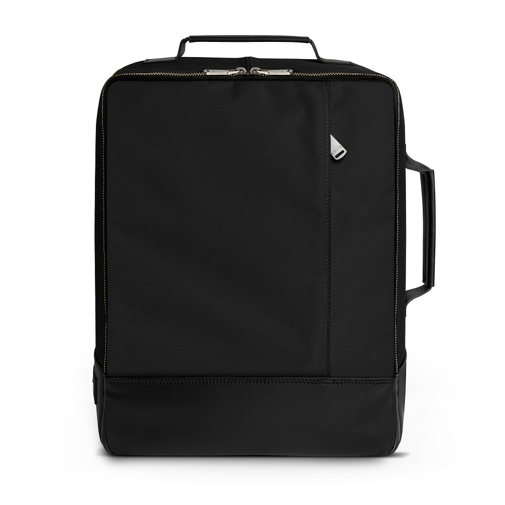 Front view of The Gallery Backpack aoifeu00ae color Black made with ECONYLu00ae regenerated nylon