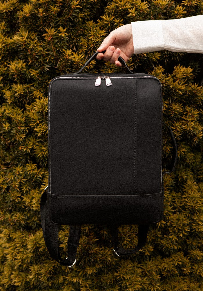 The Gallery Backpack aoifeu00ae color Black made with ECONYLu00ae regenerated nylon