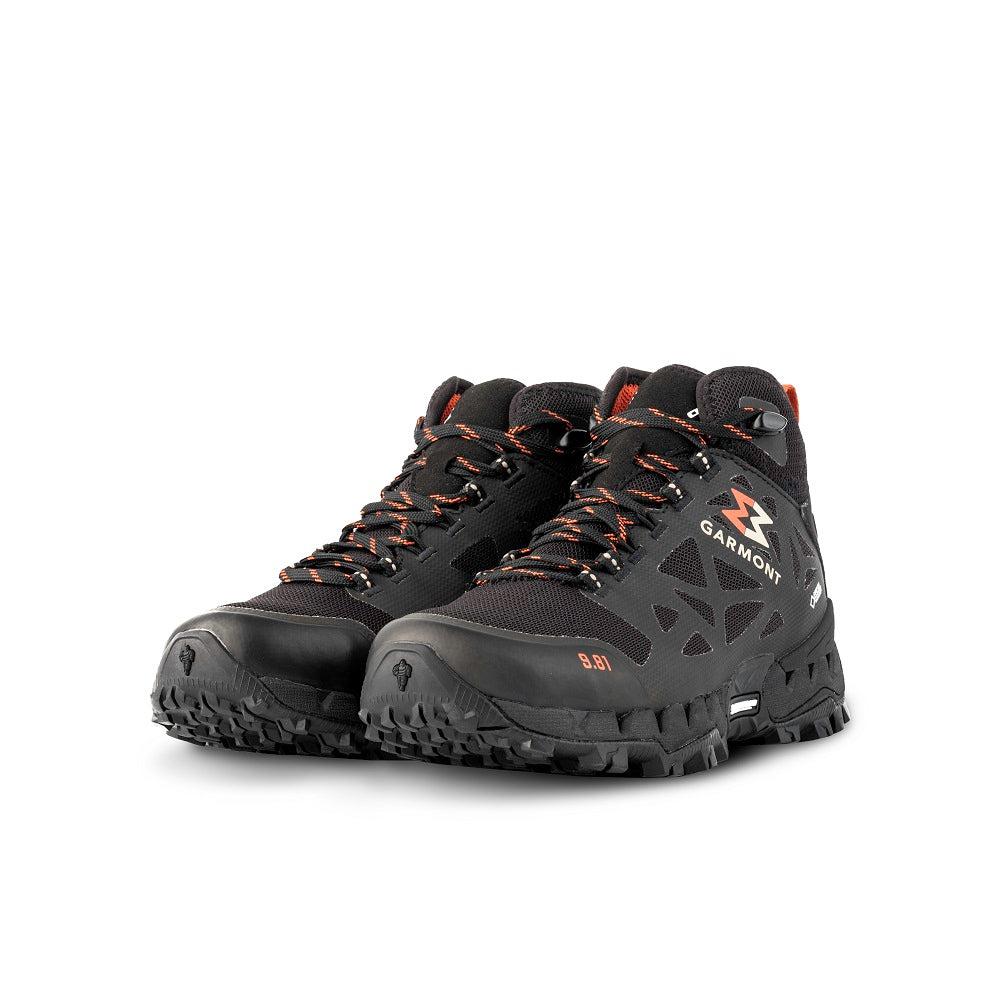 9.81 N.AIR.G 2.0 MID GTX WMS Woman Shoes Garmont Footwear color Black made with ECONYLu00ae regenerated nylon