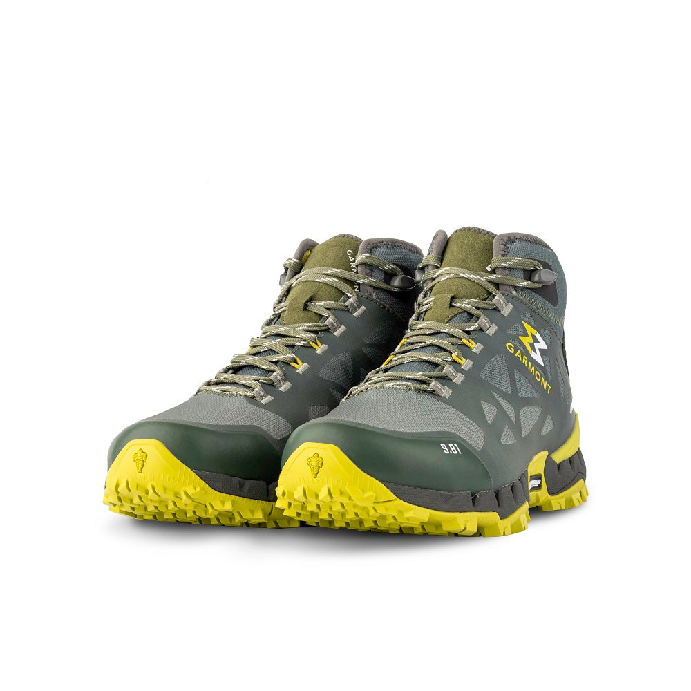 9.81 N.AIR.G 2.0 MID GTX Man Shoes Garmont Footwear color Green made with ECONYLu00ae regenerated nylon