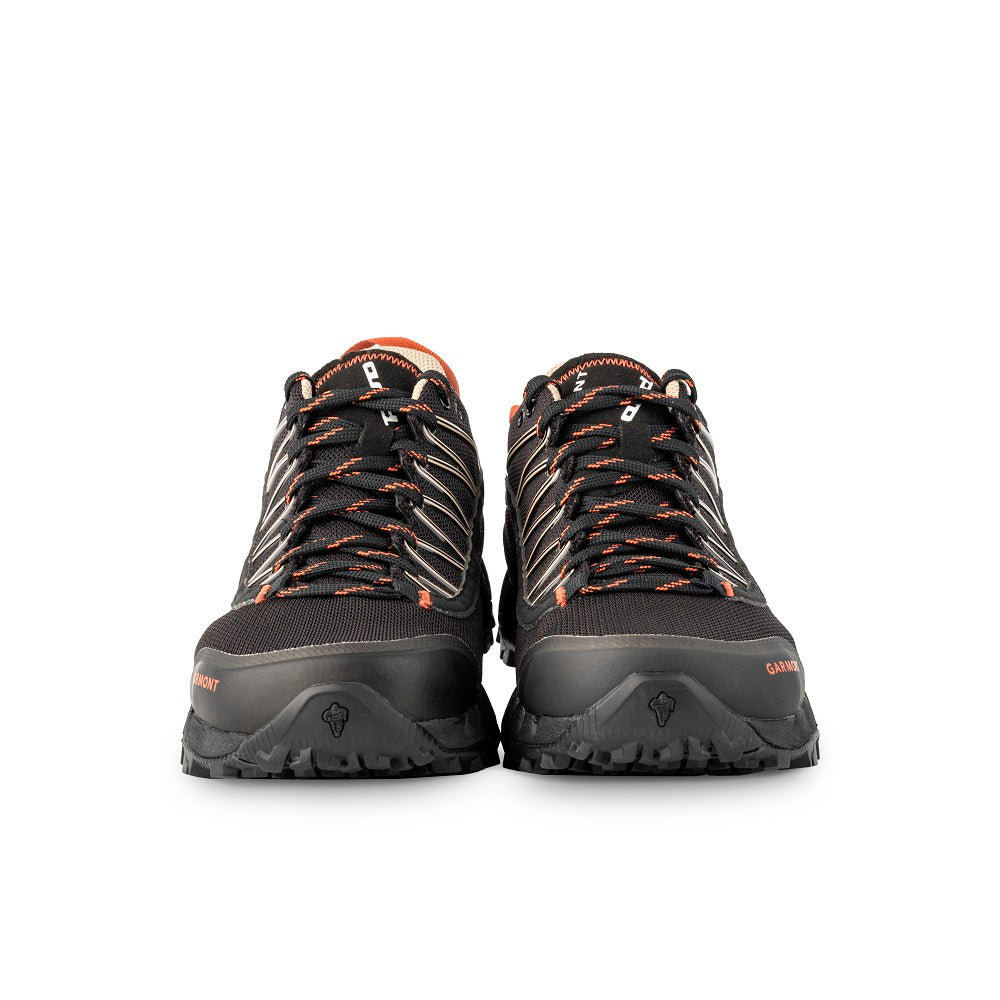 Front view of the 9.81 N.AIR.G. 2.0 GTX WMS Woman Shoes Garmont Footwear color Black made with ECONYLu00ae regenerated nylon