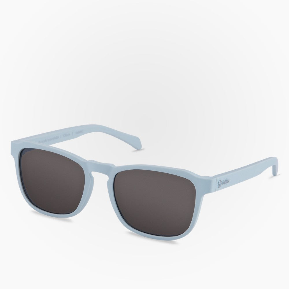 Side view of the Sunglasses Calbuco Karun color Grey made with ECONYLu00ae regenerated nylon