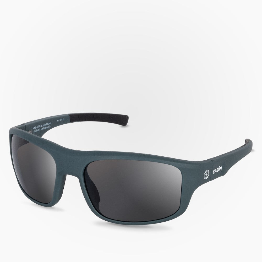 Side view of the Sunglasses Kona Karun color Blue made with ECONYLu00ae regenerated nylon