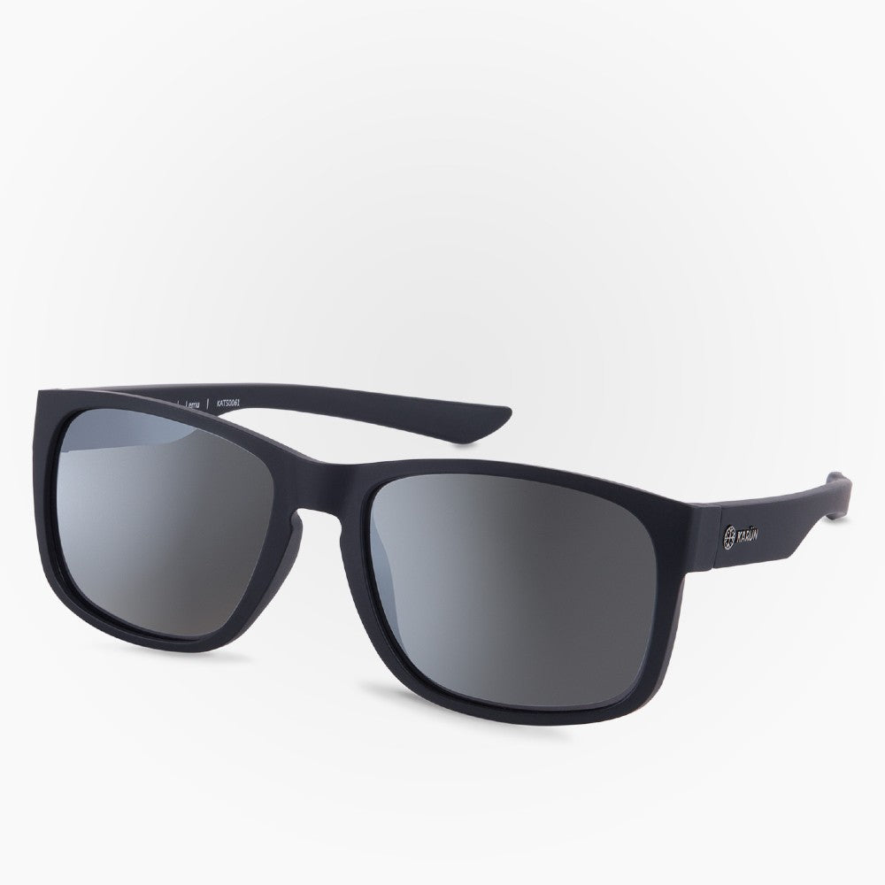 Side view of the Sunglasses Lemu Karun color Black made with ECONYLu00ae regenerated nylon