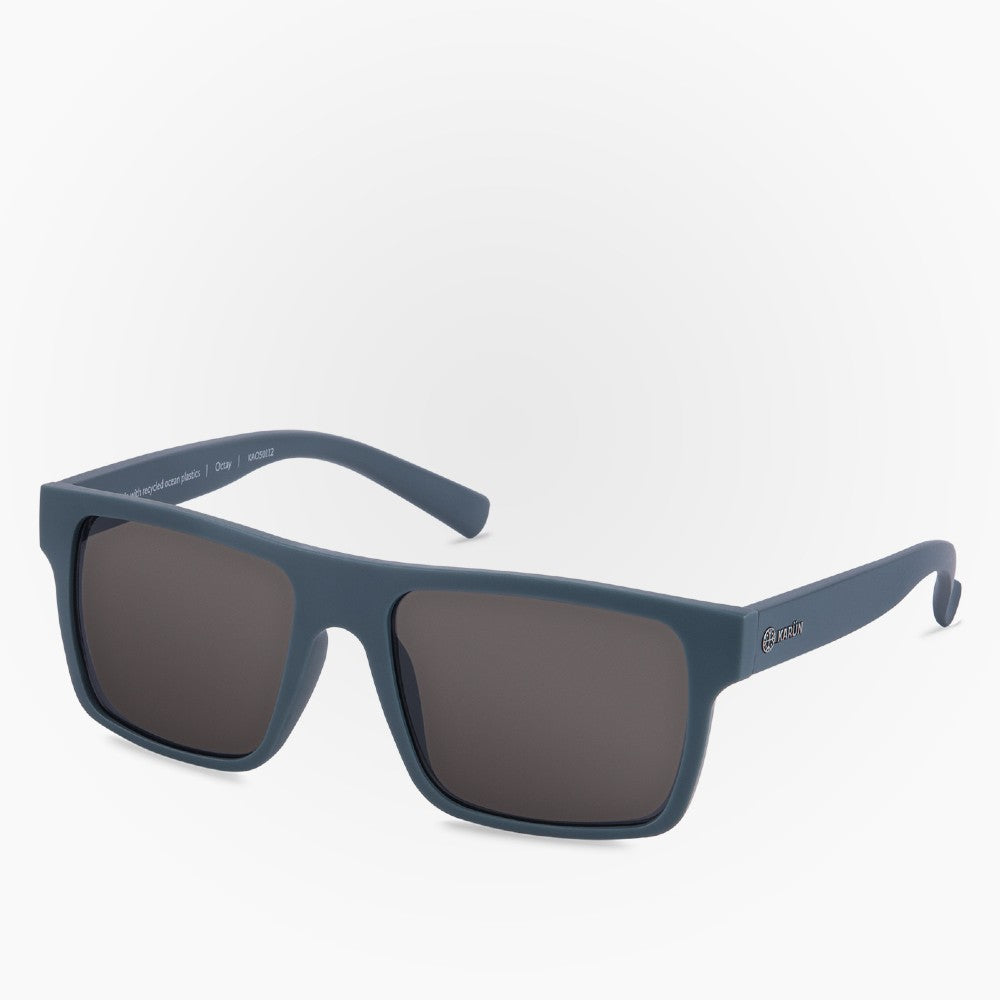 Side view of the Sunglasses Octay Karun color Blue made with ECONYLu00ae regenerated nylon