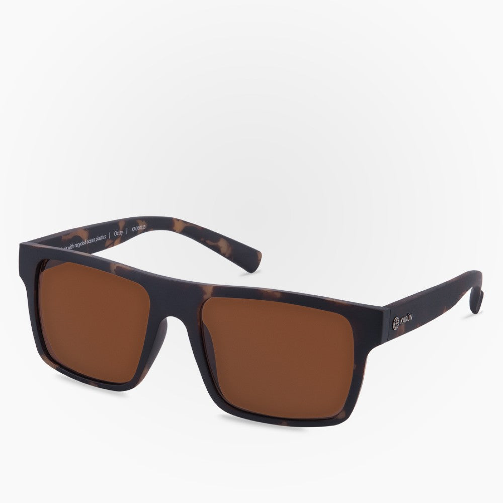Side view of the Sunglasses Octay Karun color Havana Brown made with ECONYLu00ae regenerated nylon