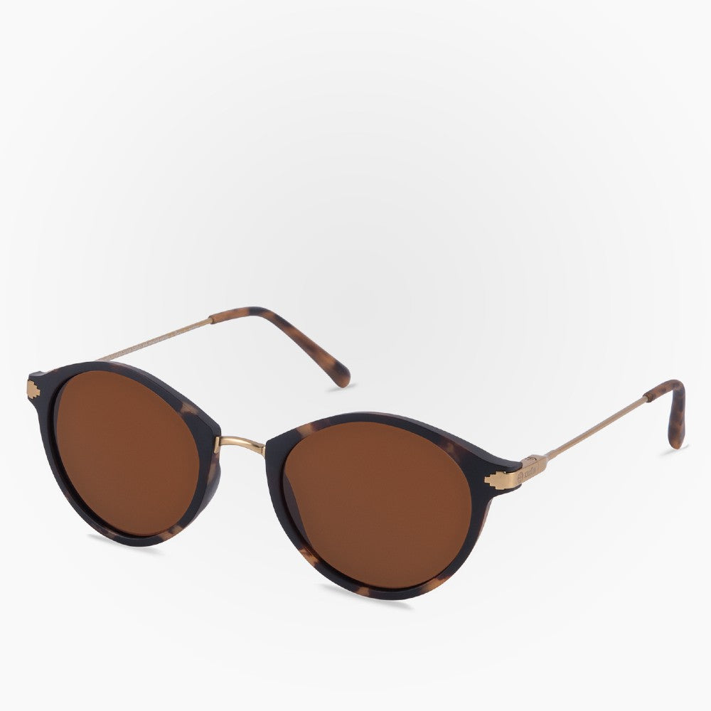 Side view of the Sunglasses Orca Karun color Havana Brown made with ECONYLu00ae regenerated nylon