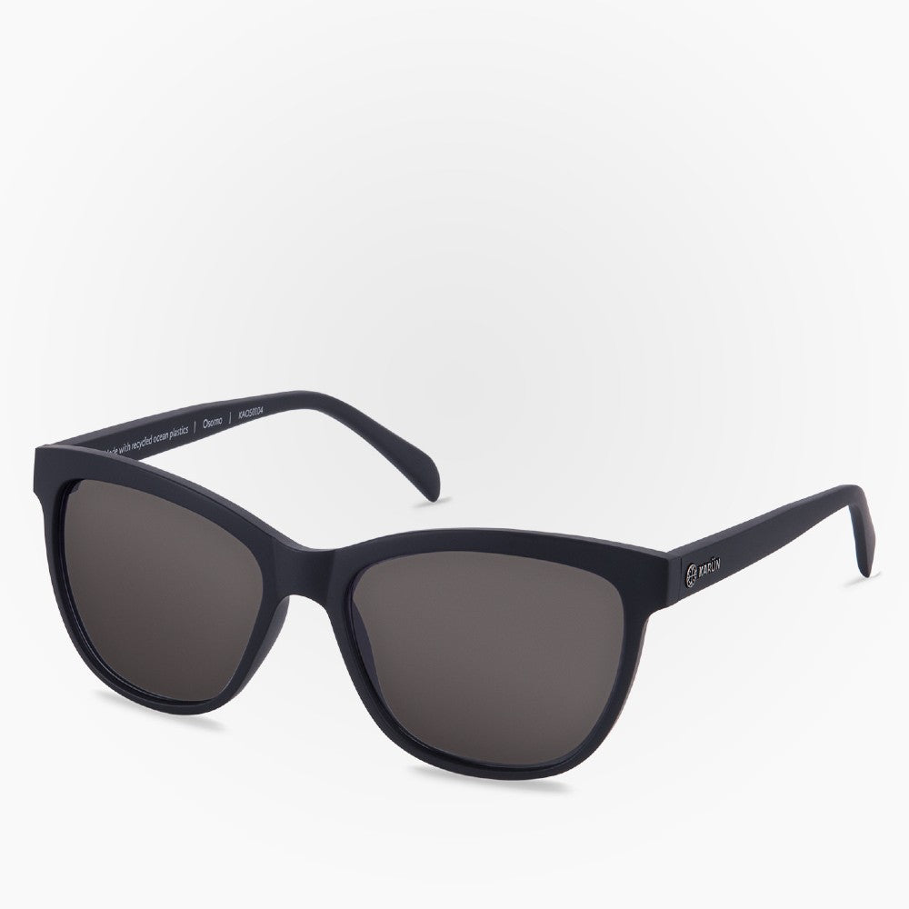 Side view of the Sunglasses Osorno Karun color Black made with ECONYLu00ae regenerated nylon