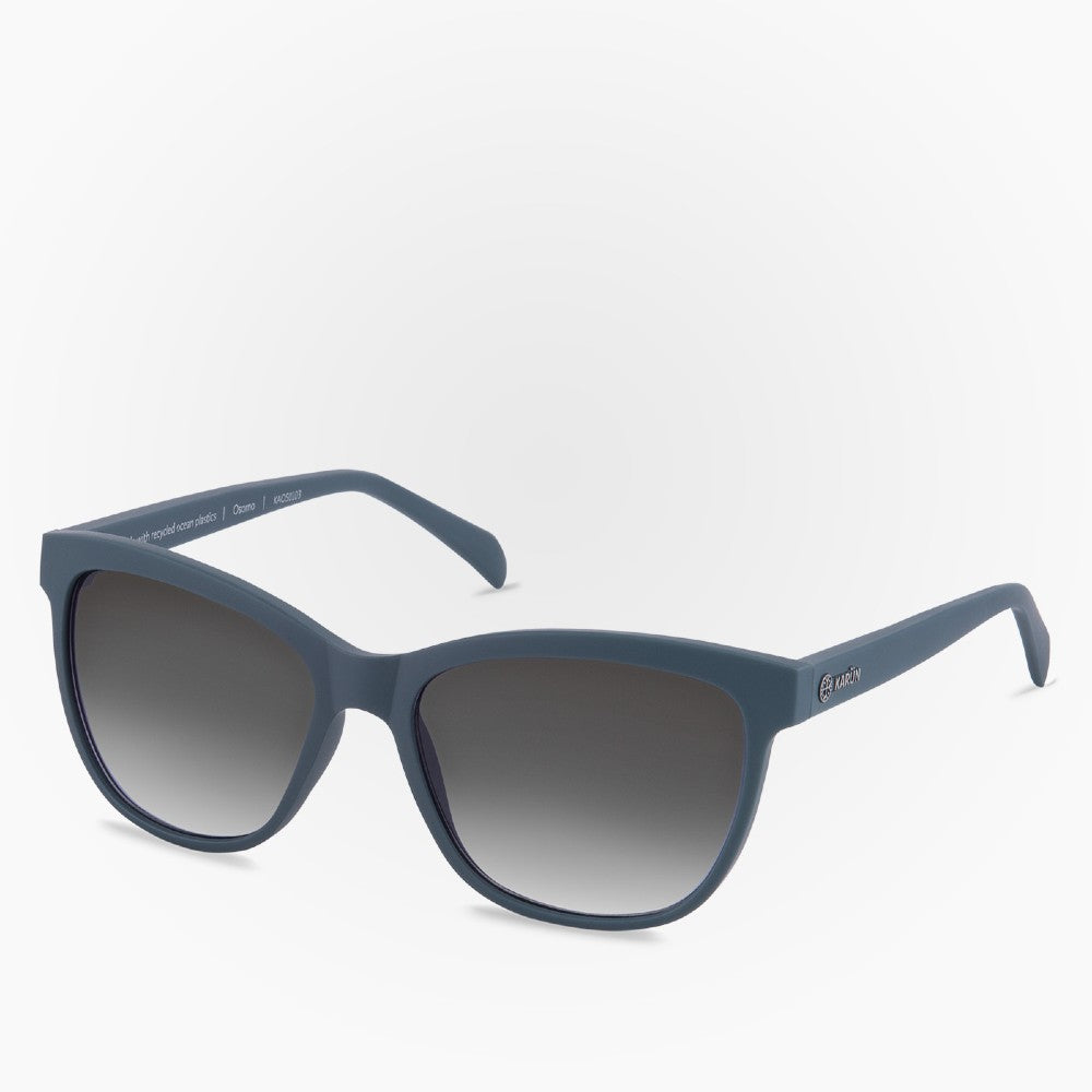 Side view of the Sunglasses Osorno Karun color Blue made with ECONYLu00ae regenerated nylon