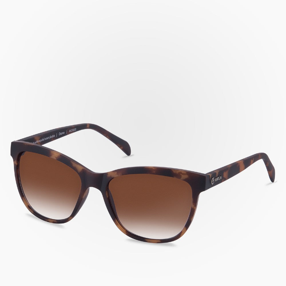 Side view of the Sunglasses Osorno Karun color Havana Brown made with ECONYLu00ae regenerated nylon