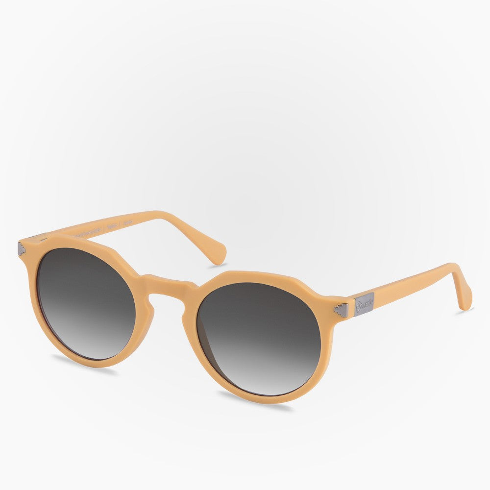 Side view of the Sunglasses Pinguino Karun color Yellow made with ECONYLu00ae regenerated nylon