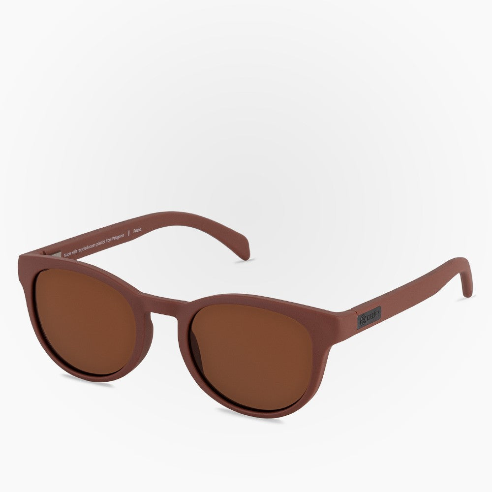 Side view of the Sunglasses Puelo Karun color Brown made with ECONYLu00ae regenerated nylon