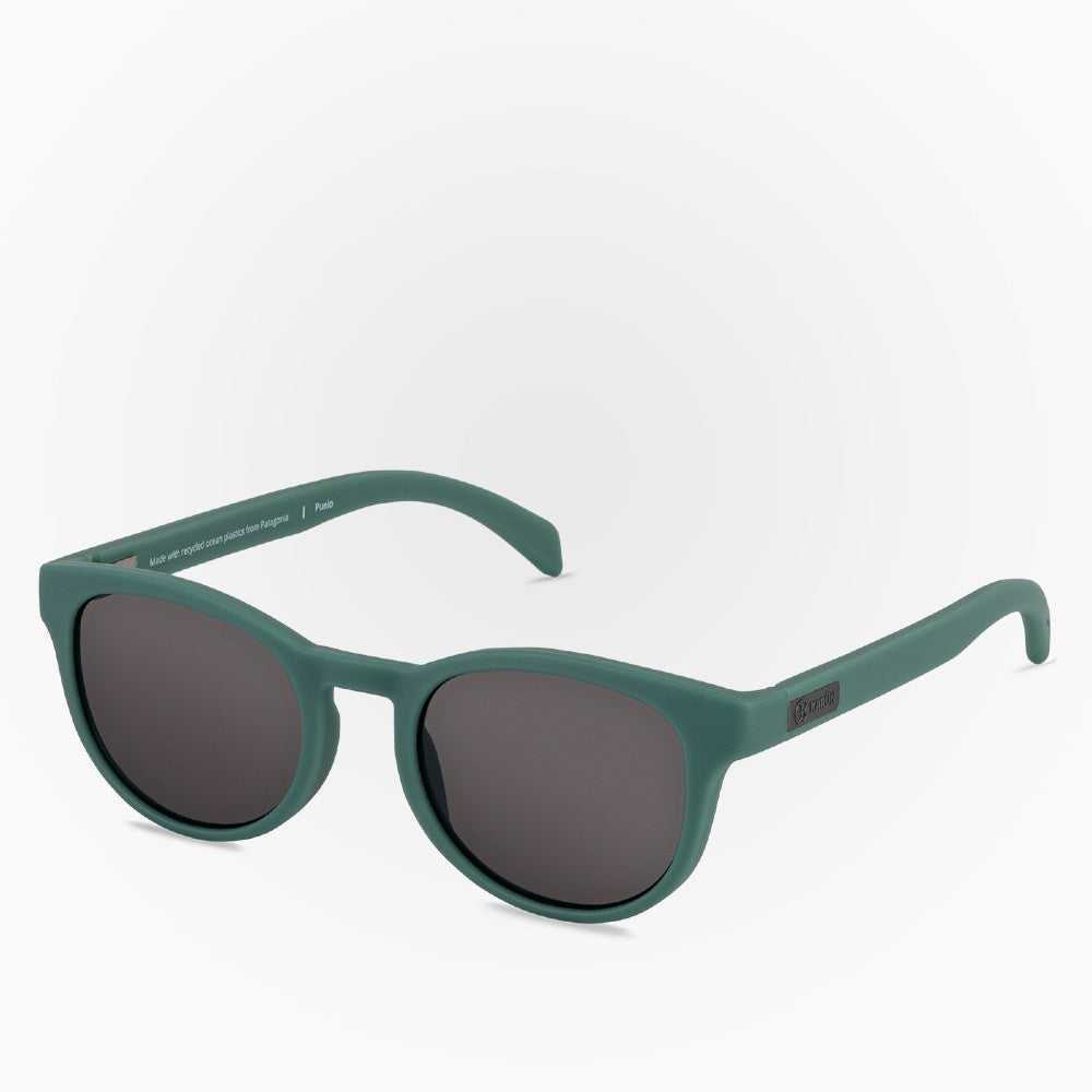 Side view of the Sunglasses Puelo Karun color Green made with ECONYLu00ae regenerated nylon