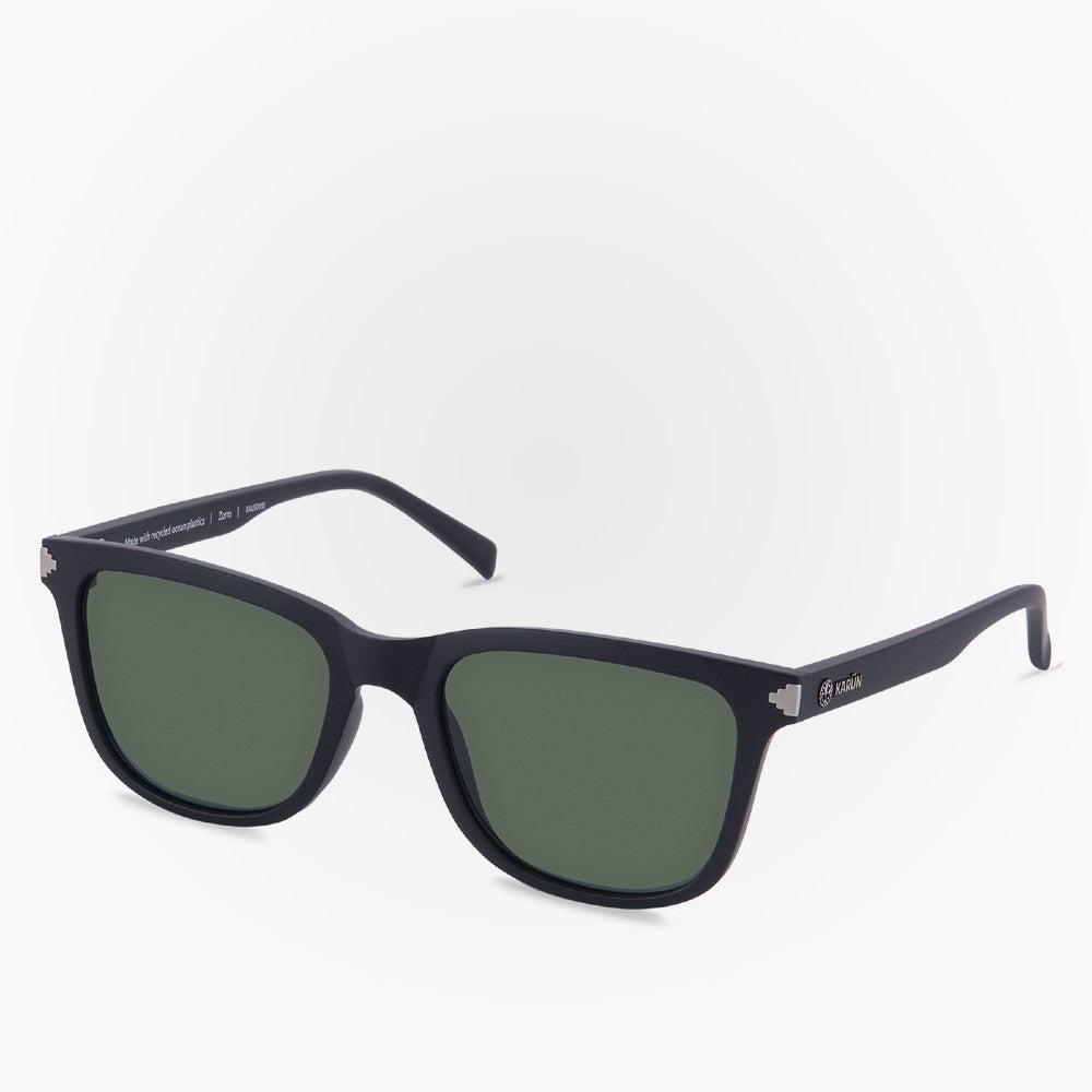 Side view of the Sunglasses Zorro Karun color Black made with ECONYLu00ae regenerated nylon