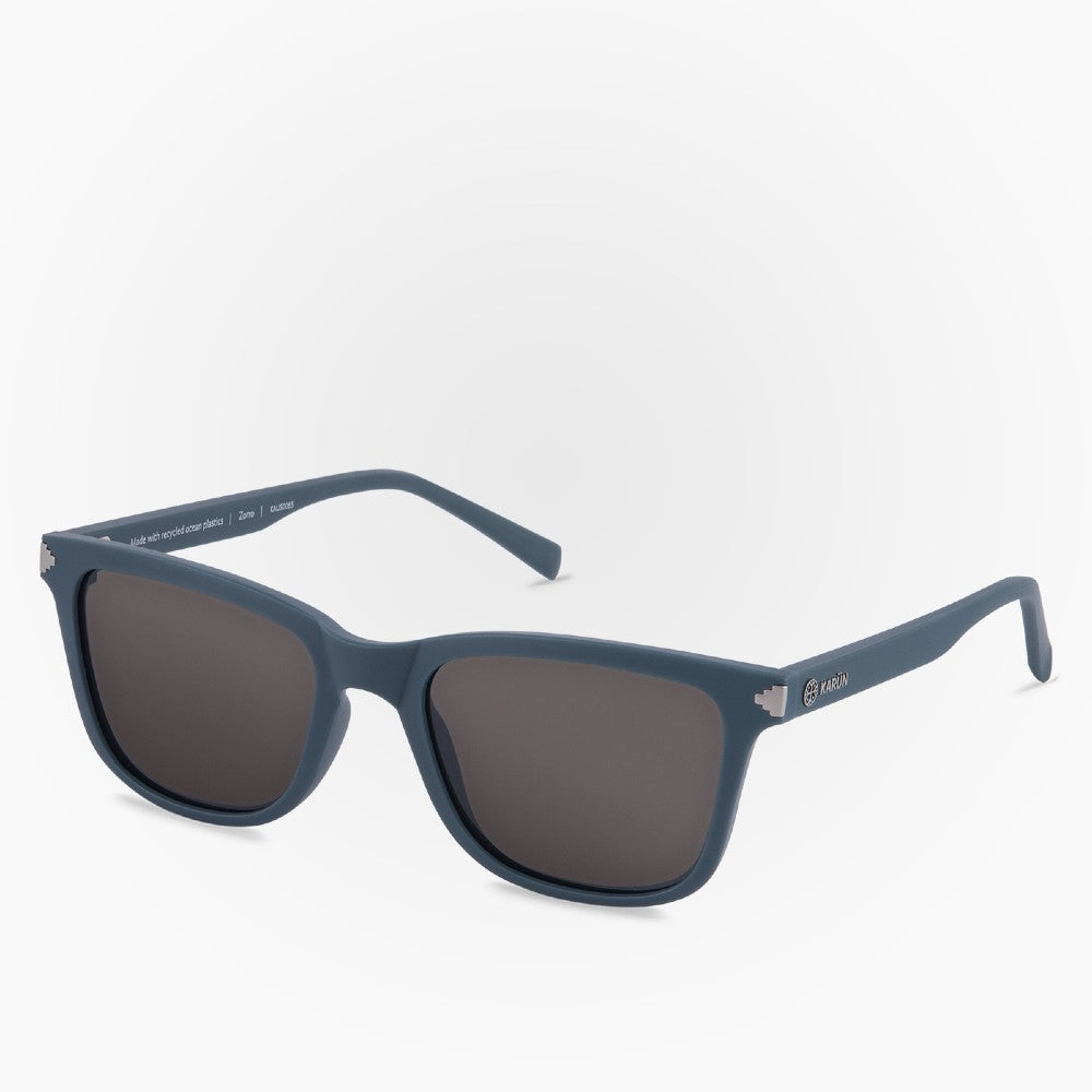 Side view of the Sunglasses Zorro Karun color Blue made with ECONYLu00ae regenerated nylon