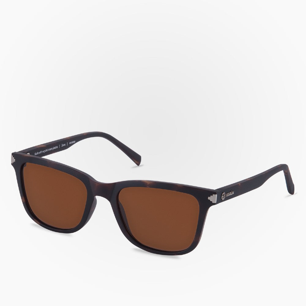 Side view of the Sunglasses Zorro Karun color Brown made with ECONYLu00ae regenerated nylon