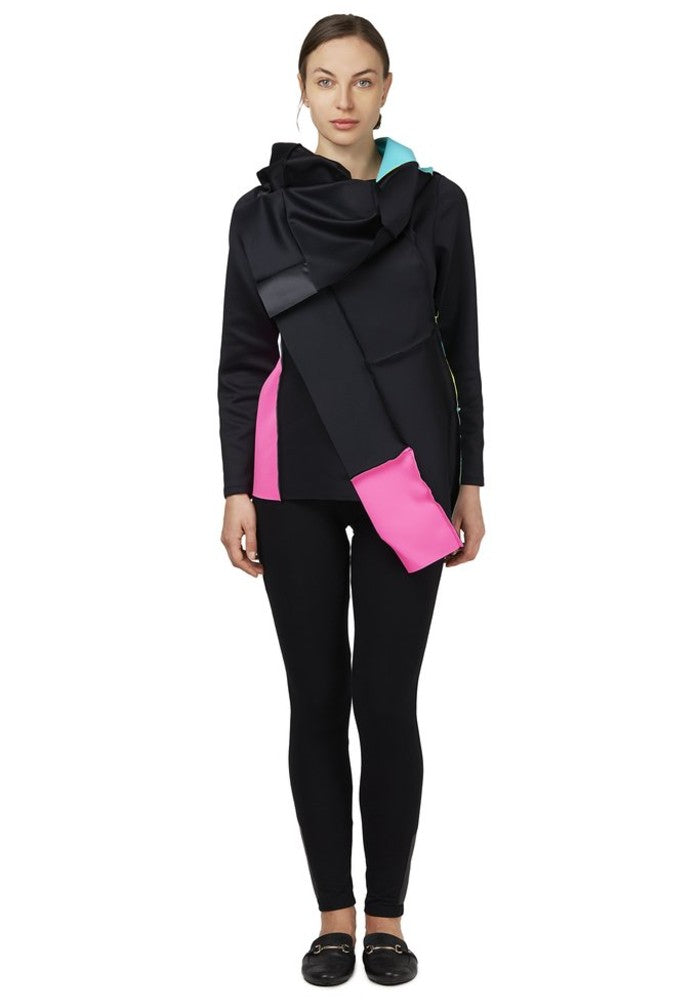 Front view of the Swatch Jacket Malaika New York made with ECONYLu00ae regenerated nylon