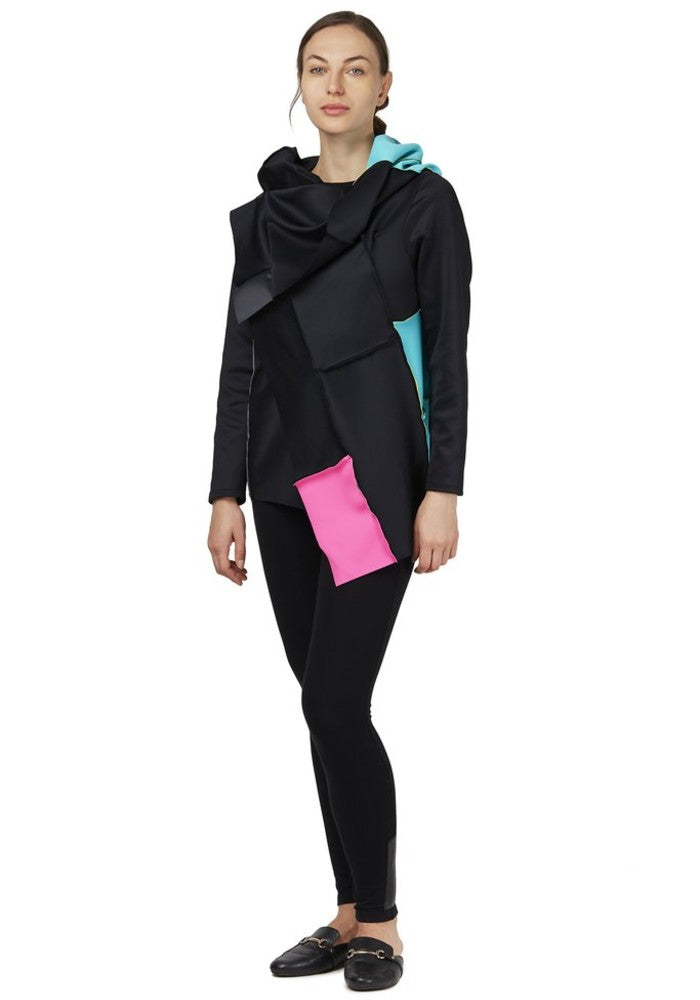Side view of the Swatch Jacket Malaika New York made with ECONYLu00ae regenerated nylon