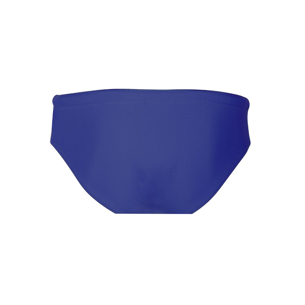 Back view of the Men's Swim Brief Mermazing color Blue made with ECONYLu00ae regenerated nylon