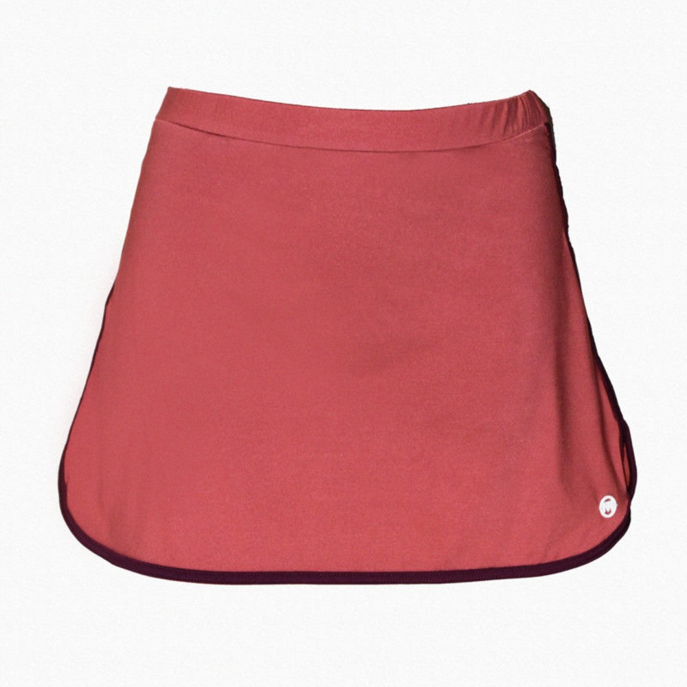 Short Skirt (Wonder Collection) Mermazing color Antique pink and Burgundy made with ECONYLu00ae regenerated nylon