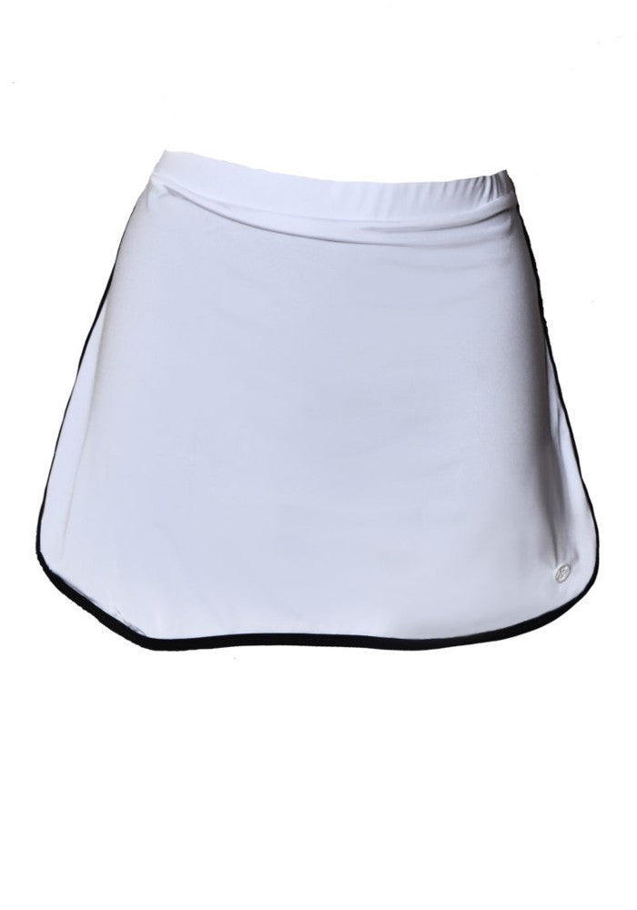 Short Skirt (Wonder Collection) Mermazing color White and Black made with ECONYLu00ae regenerated nylon