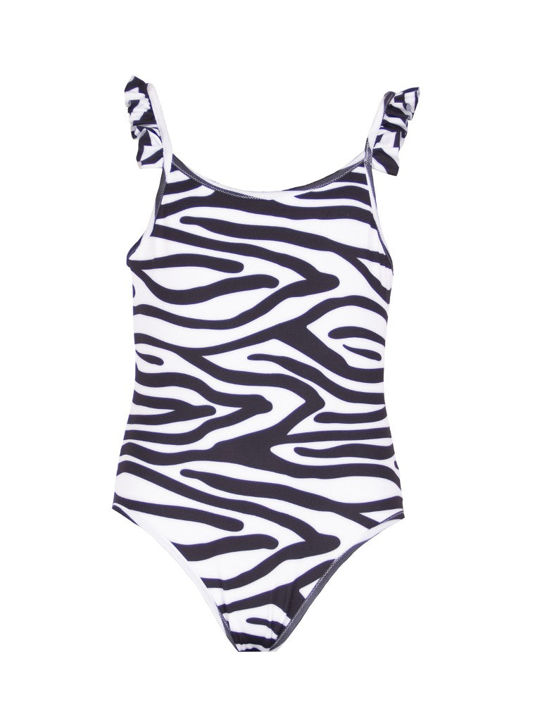Asia (Jungle Baby Collection) Swimsuit Mermazing pattern Zebra made with ECONYLu00ae regenerated nylon
