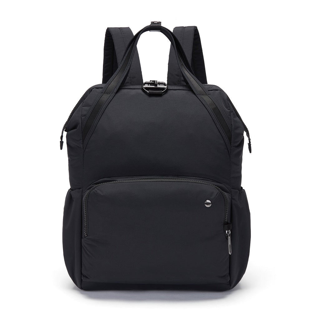 Pacsafe Citysafe CX Anti-Theft Backpack color Black made with ECONYLu00ae regenerated nylon