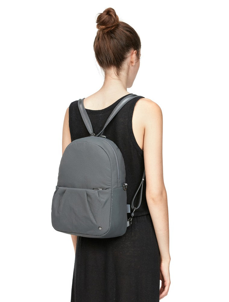 Pacsafe Citysafe CX Anti-Theft Convertible Backpack color Storm made with ECONYLu00ae regenerated nylon