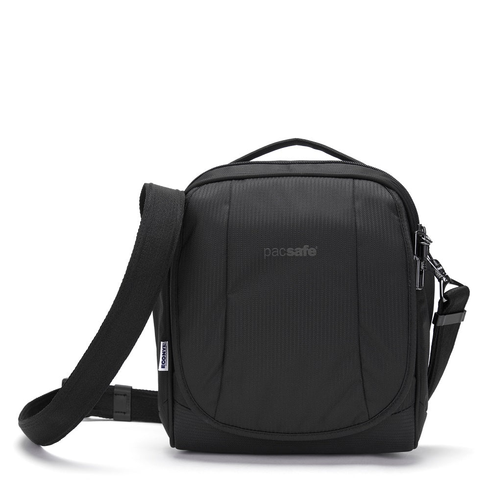 Front view of the Pacsafe Metrosafe LS200 Anti-Theft Crossbody Bag made with ECONYLu00ae regenerated nylon