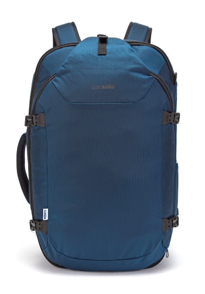 Pacsafe Venturesafe EXP45 Anti-Theft Carry-On Travel Pack color Ocean made with ECONYLu00ae regenerated nylon