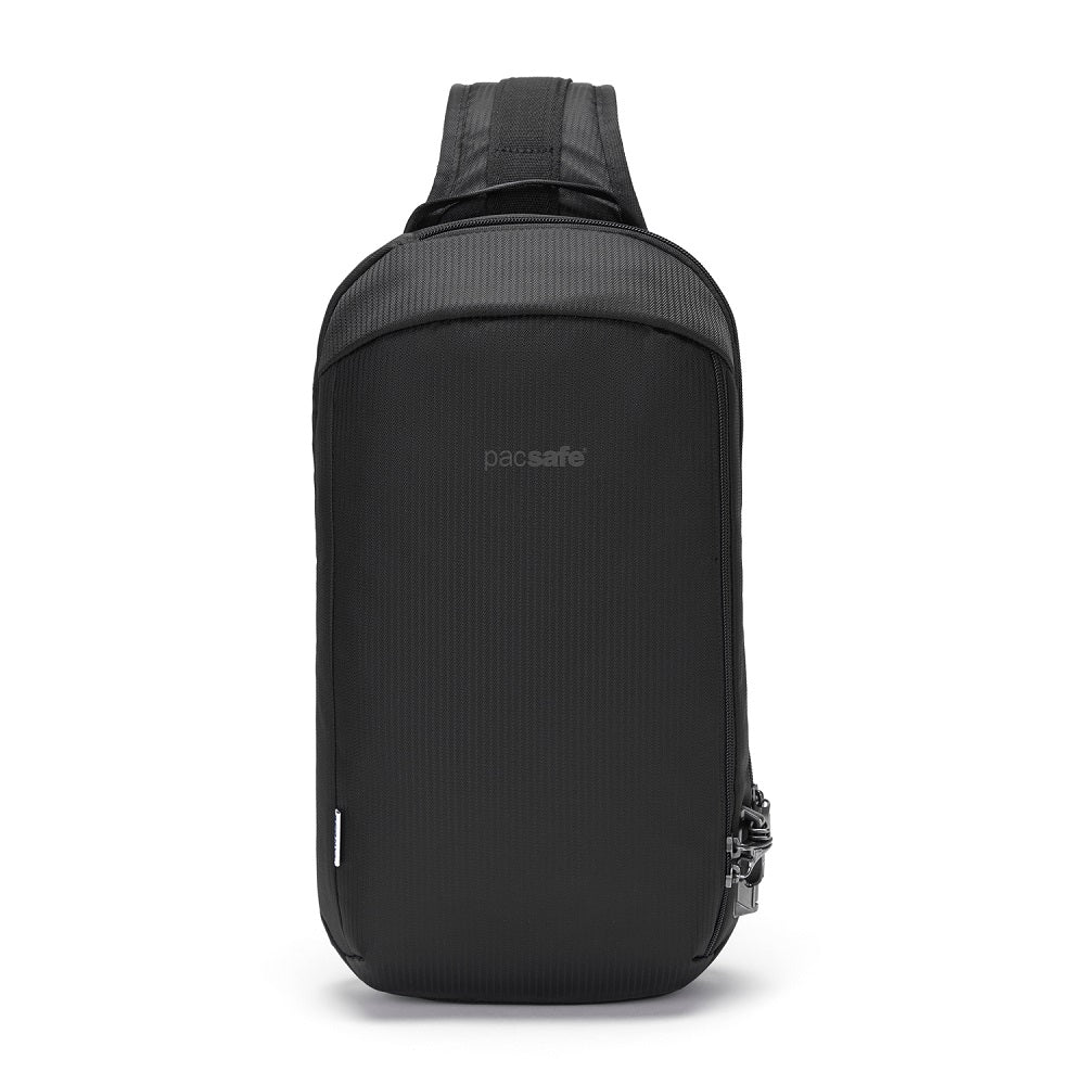 Pacsafe Vibe 325 Anti-Theft Sling Pack color Black made with ECONYLu00ae regenerated nylon