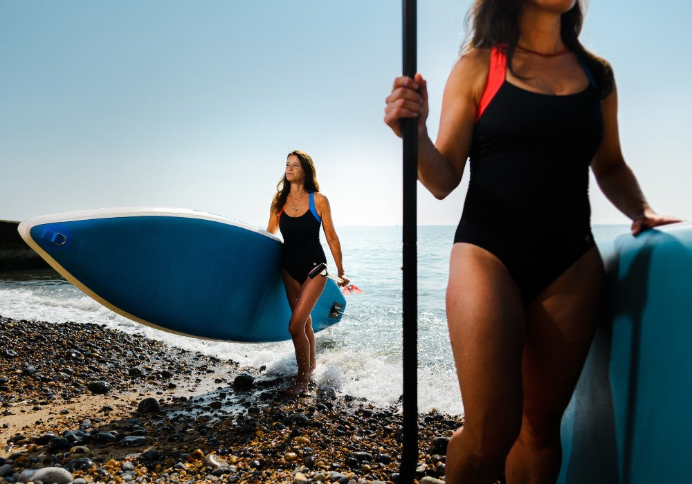 Sorphea Swimsuit RubyMoon GymToSwim color Black made with ECONYLu00ae regenerated nylon for Surfing