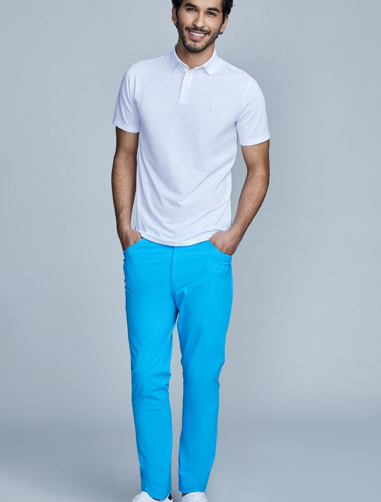 The Triton 5-Pocket Pant State Of Matter color Aqua made with ECONYLu00ae regenerated nylon