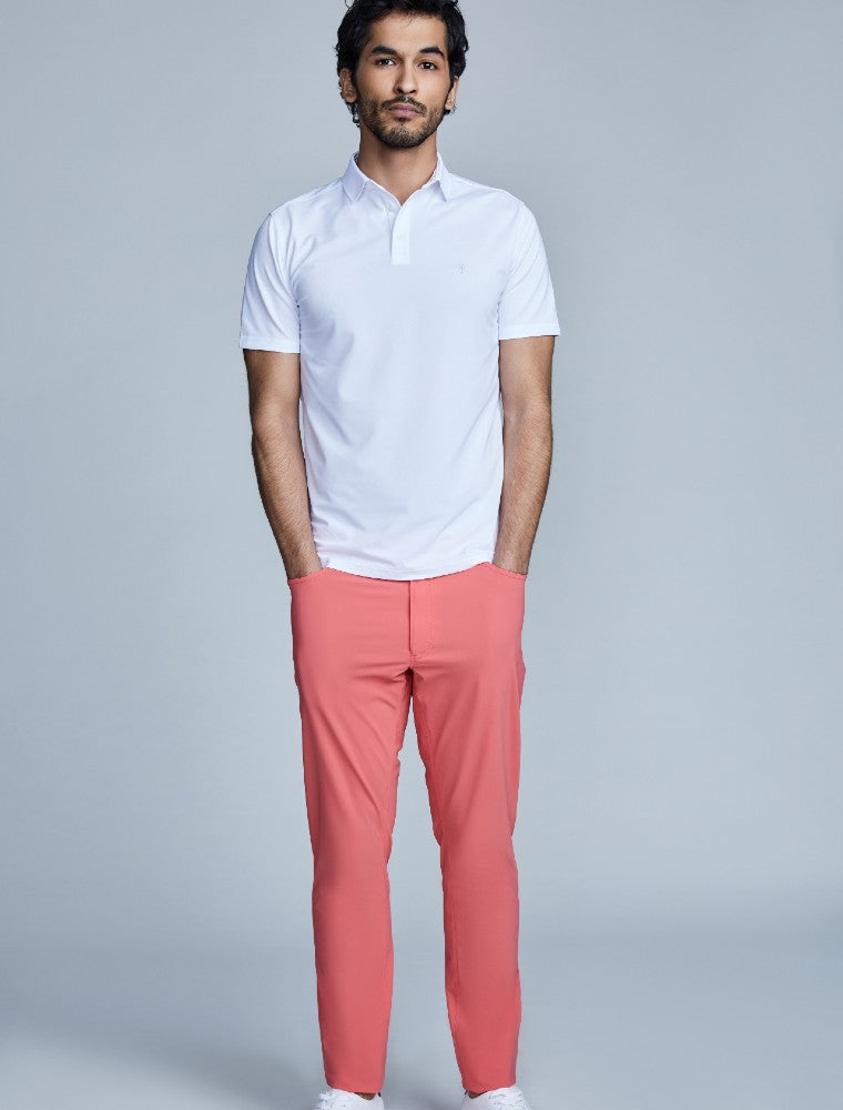The Triton 5-Pocket Pant State Of Matter color Canyon Rose made with ECONYLu00ae regenerated nylon