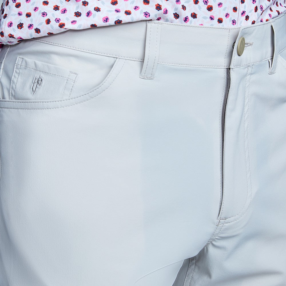 Detail of The Triton 5-Pocket Pant State Of Matter color Stone made with ECONYLu00ae regenerated nylon