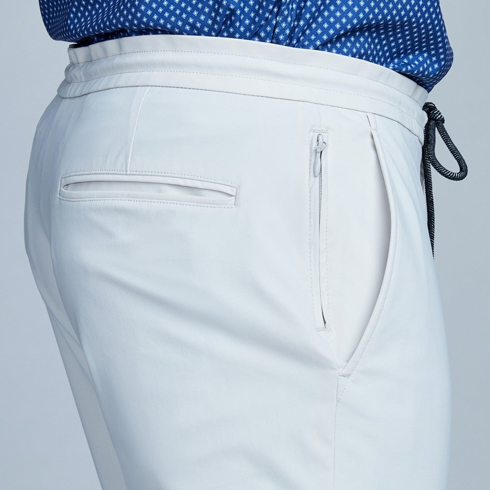 Detail of The Triton Drawstring Pant State Of Matter color Stone made with ECONYLu00ae regenerated nylon