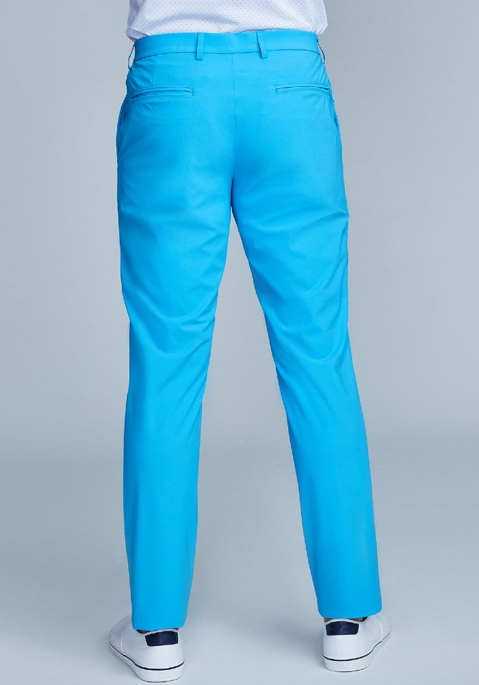 Back view of The Triton Pant State Of Matter color Aqua made with ECONYLu00ae regenerated nylon