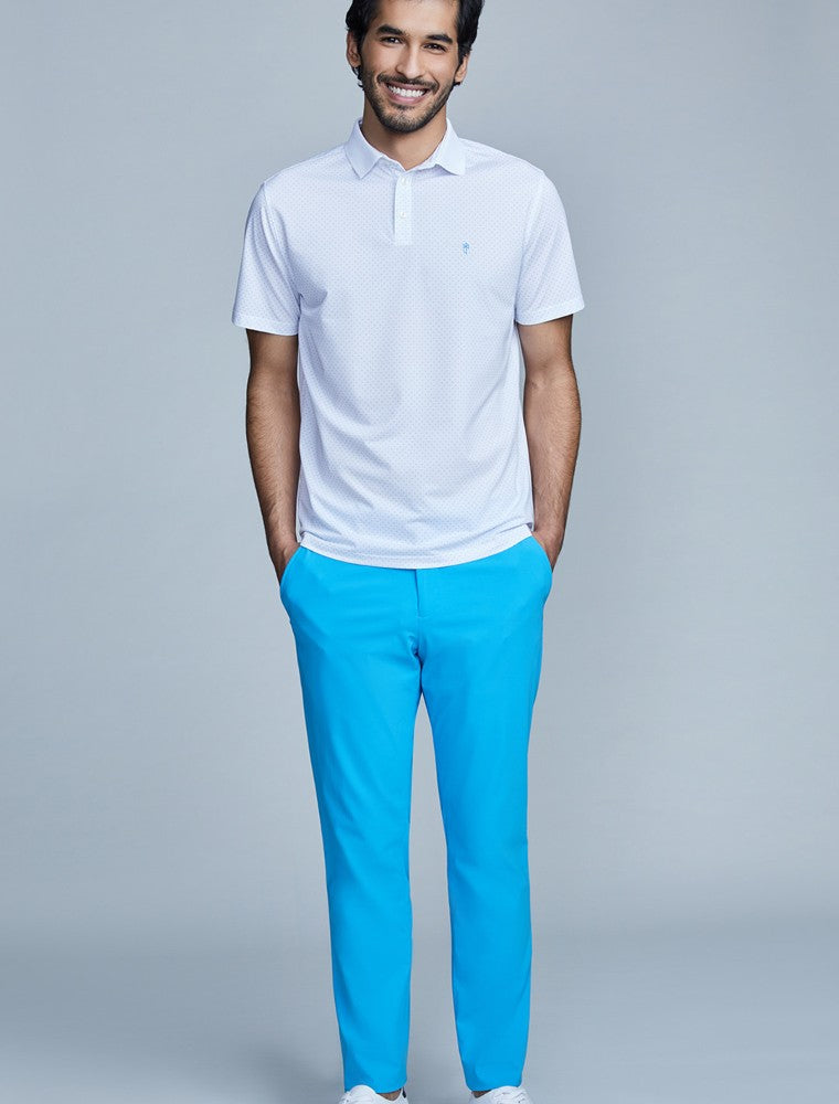 The Triton Pant State Of Matter color Aqua made with ECONYLu00ae regenerated nylon lifestyle