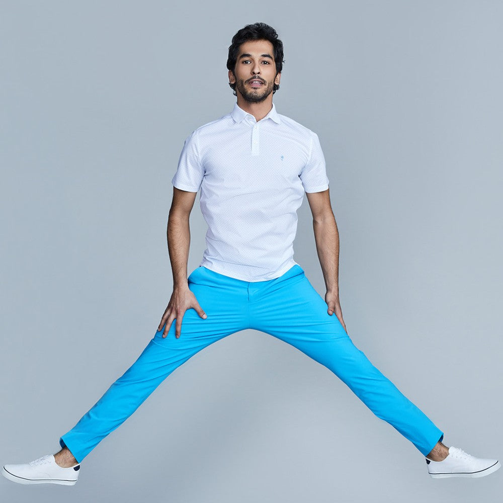 The Triton Pant State Of Matter color Aqua made with ECONYLu00ae regenerated nylon